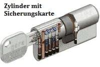 Türzylinder mit Sicherungskarte