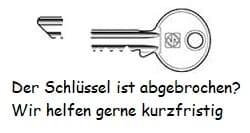 Schlüssel im Türschloss abgebrochen